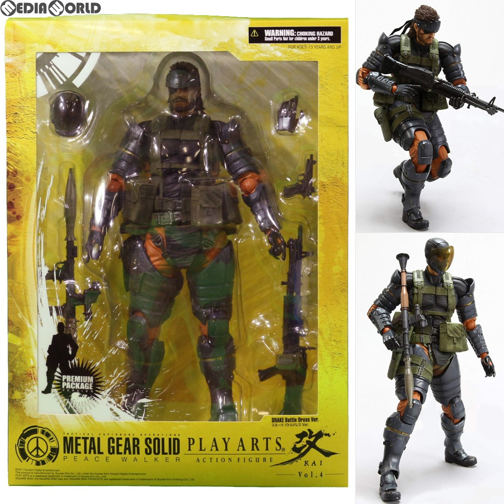 Metal Gear Solid Peace Walker Square Enix Play Arts Kai Action Figure Snake Snea